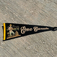 "Vintage Emo Canada They Always Get Their Man Pennant Banner Black 22""No Tassel"