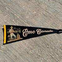 "Vintage Emo Canada They Always Get Their Man Pennant Banner Black 22""No Tassel"