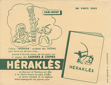 Buvard vintage far-west Héraklès