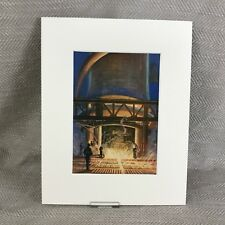 1930 Vintage Art Deco Print Blast Furnace Industrial Iron Steel Industry