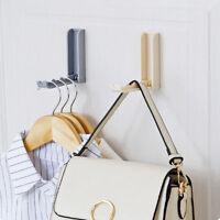 Folding Door Hook Hanger Clothes Bag Key Rack Coat Hangers Space Saving Creative