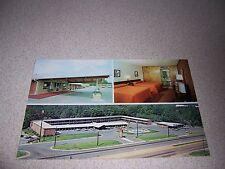 1970s RANCH MOTEL & RESTAURANT RALEIGH NC. VTG POSTCARD