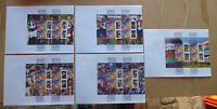 2004 AFL SET OF 5 PLAYER P STAMP BOOKLET PANE LARGE FDC 10 PLAYERS FREMANTLE