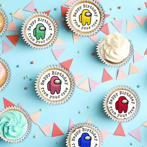 Crew Cupcake Toppers Among Us Inspired Toppers Mobile Game Toppers