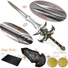 """47"""" Frostmourne Craft lich Sword Replica Gift 1:1 Scale Blunt + Coin + Mouse Pad"""