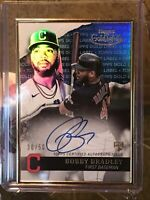 2020 TOPPS GOLD LABEL BOBBY BRADLEY FRAMED BLUE AUTO 30/50 RC INDIANS