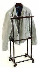 Modern Twin Bar Butler Coat Rack Executive Clothes Hanger Mens Valet Suit Stand