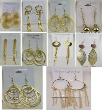 Wholesale lot 10 pairs Fashion Dangle Gold Plated  Earrings fashion jewelry #51