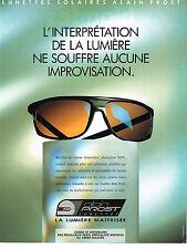 PUBLICITE ADVERTISING 094  1990  ALAIN PROST   lunettes solaires