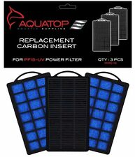 AQUATOP Aquarium Carbon Cartridge for PF15-UV Hang On UV Filter 3pc