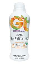 2 Pack Genesis Today Pure Organic SEA BUCKTHORN 100 Juice Omega 32oz Ea Bottle