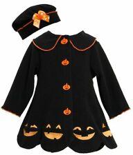 Bonnie Jean Baby Girl Halloween Jack-O'-Lantern Fleece Fall Coat Hat Sz 3-6M NWT