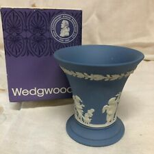 Wedgwood 25th Anniversary~Josiah Wedgwood~Jasper (Pale Blue) Seasons Posey Pot