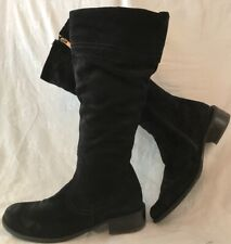 Lasocki Navy Knee High Suede Beautiful Boots Size 37 (508v)