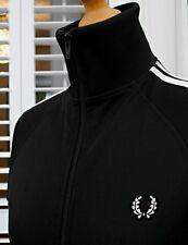 FRED Perry Donna Nero TWIN CON NASTRO Harrington Track Jacket-UK 10/EU 38/US 6
