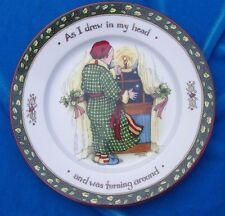 Portmeirion Studio Christmas Story Dessert Salad Plate As I Drew in my Head