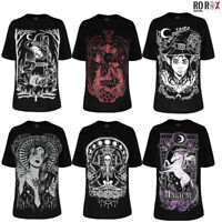 Restyle Gothic Wicca Witchcraft Witch Lucifer Unicorn Oversized Top T-shirt Tee