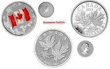 2015 Silver $25 Canadian Flag & $20 Majestic Maple Leaves & $10 Maple Leaf Coins