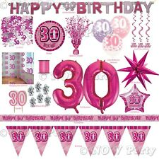 Pink Girl Milestone Special 30th Age 30 Birthday Party Supplies Decorations