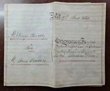 1860 Vellum Indenture Baddeley to Baddeley for House in Ranscombe Road, Brixham