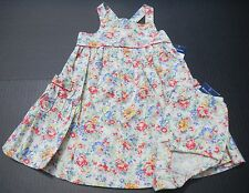 Ralph Lauren Baby Girls 2 pc Floral Dress w/bloomers sz 9 mo NEW NWT cotton