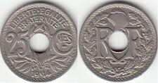 Monnaie Française 25 centimes Lindauer Souligné 1914