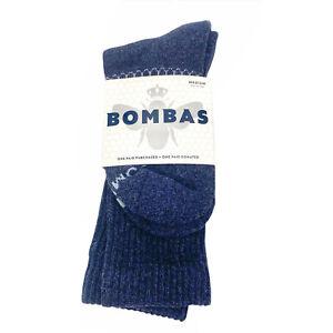 Bombas Mens Womens Unisex Blue Tech Calf Socks Size Medium