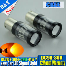 1 x 44W CREE XBD and 3014 SMD AMBER  PY21W 581 BAU15s LED CAR TURN SIGNAL BULBS