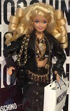 2015 Moschino Barbie blonde doll NRFB Designer Jeremy Scott Superstar face