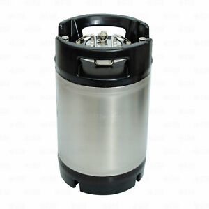 2.5 Gallon Ball Lock Corny Keg Stainless for Beer Coffee NSF Dual Rubber Handle