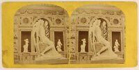 Parigi Expo Universale Da 1867 Scultura Italia Foto Stereo Vintage Albumina