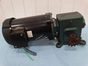Marathon CVN56H17F2022AP Induction Motor .05/1 HP 3Ph w/TMQ218-3 Reducer 15:1