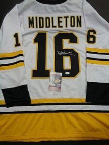 Rick Middleton Boston Bruins Autographed Signed White Style Jersey XL JSA-Coa+