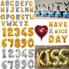 "16"" 40"" Silver Gold Letter Number Foil Balloon Wedding Celebration Party Decor"