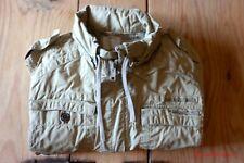 Mens DIESEL Khaki Military Style Jacket with concealed Hood L SUPERB