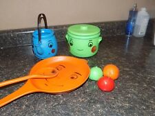 Smiling Face Pot  pan tea  plus fruit  Vintage Kitchen Play Set Marx Toys