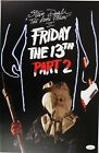 """1981 Steve Dash """"The Real Jason"""" Friday the 13th Part 2 Signed 11x17 Print (JSA)"""