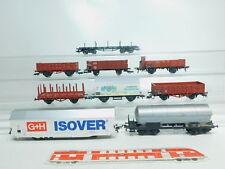 bm144-2 #9X Fleischmann H0/DC FREIGHT CAR DRG + DB: G+ isover + Reichelbräu etc.