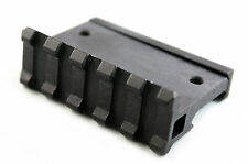Low Profile Tactical 90 Degree Offset Angle Mount 5 Slot Picatinny Weaver Rail
