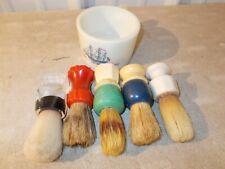 5 Vintage Shaving Brushes FULLER ERSKINE EVER-READY OLD SPICE SHAVING  MUG