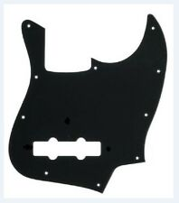NEW Standard Jazz Bass Pickguard BLACK 10 Hole 1 Ply for USA Fender JB Guitar