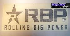"ROLLING BIG POWER RBP DECAL 36"" WHITE 14""x 36"" Die-Cut STICKER #900-36-B Die Cut"