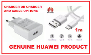 Huawei SuperCharge 4.5A HW-050450E00 EU Mains Charger USB Type C Cable (options)