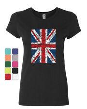 Union Jack Cotton T-Shirt United Kingdom Distressed British Flag