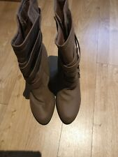 B/N Ladies New Look Brown Boots, Size 8