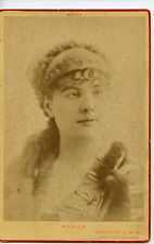 Vintage Cabinet Card Marguerite Brésil French Stage Actress Nadar Photo Paris