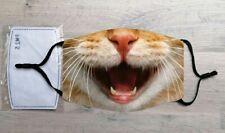 Cat face mask (Feline, Pet, Tabby)