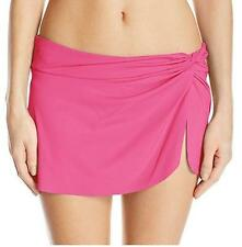 NEW~ANNE COLE~Women SMALL-PINK~BATHING SUIT Bottom with BUILT IN Sarong Skirt