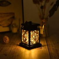 30 LED Solar Powered Hanging Lantern Lights Outdoor Garden Table Lamp Waterproof