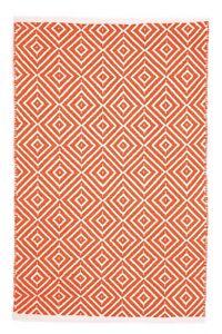Indoor Rug   Cotton Rug   Dhurrie Rugs   Kimberley Orange   Free Shipping